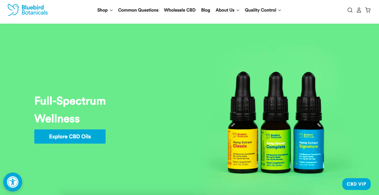 cbd drop Bluebird Botanicals