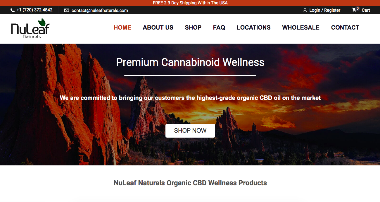 main page NuLeaf Naturals
