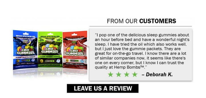 testimonial hemp bombs